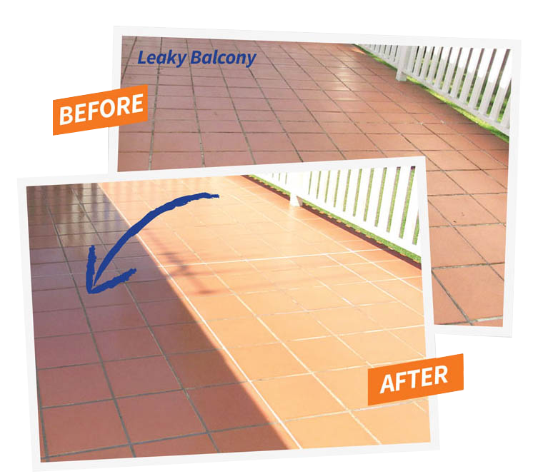 Leaky Balcony Before and After