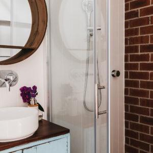 Exposed Brick Ensure bathroom comlete