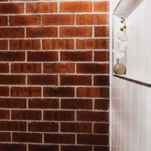 exposed brick waterproofed