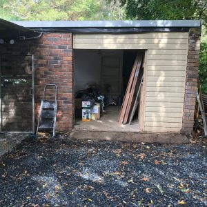 Remove Doors (that actually fell out on their own) and cladding