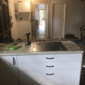 existing bench top (remove electric hot plate)
